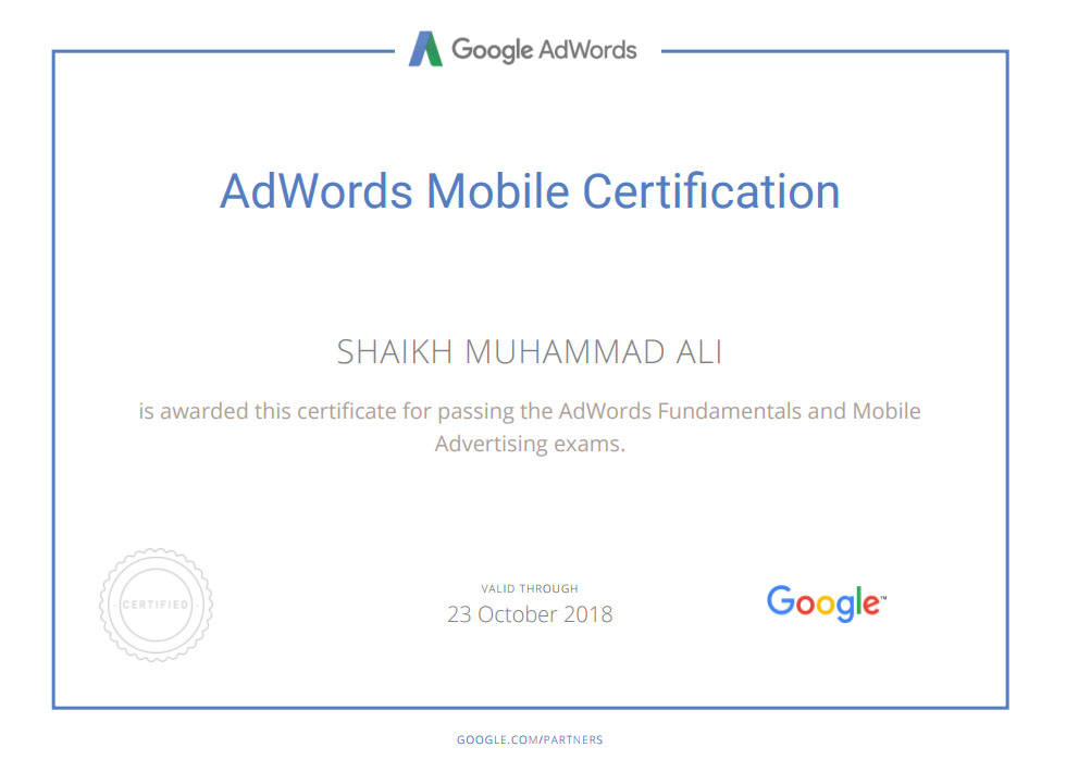 Google AdWords Shopping Certification Mega Marketing Network