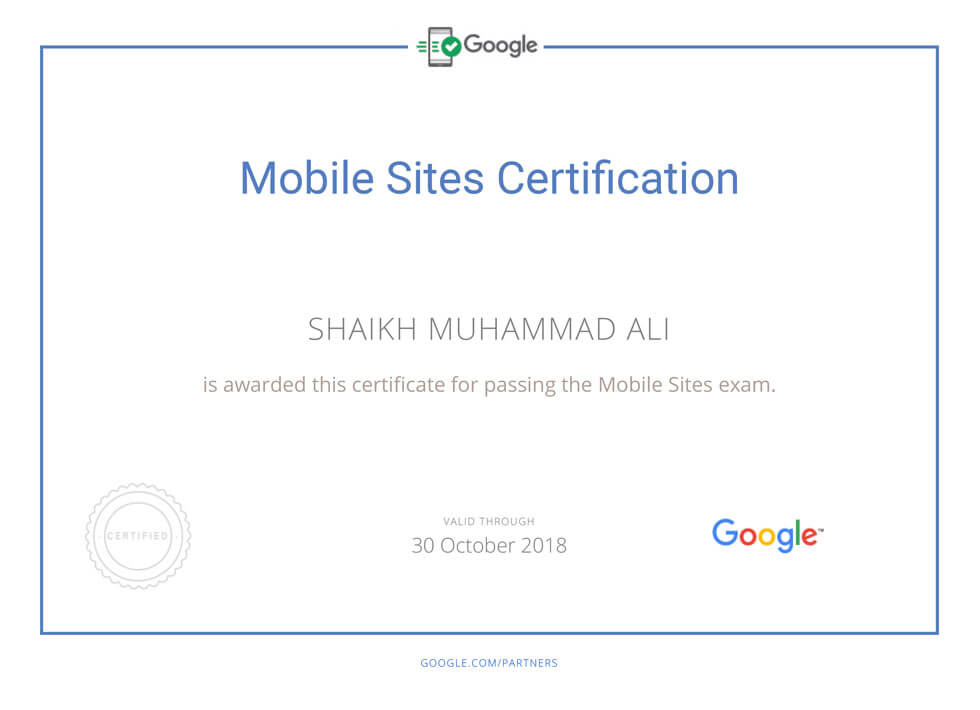 Google AdWords Mobile Sites Certification Mega Marketing Network
