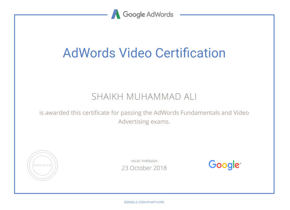 Google AdWords Video Certification Mega Marketing Network