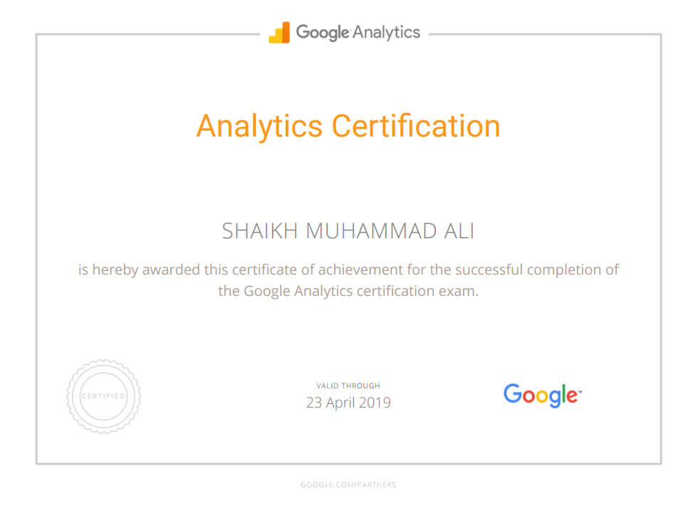 Google Analytics Certification Mega Marketing Network