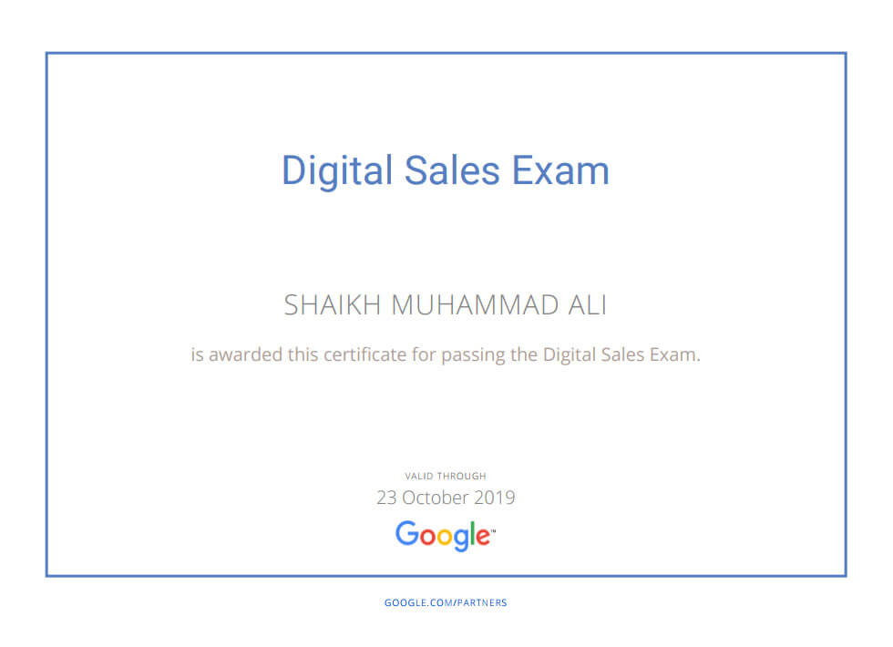 Google Digital Sales Exam Certification Mega Marketing Network