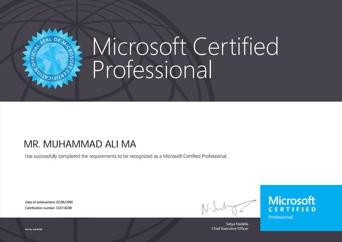Microsoft Certified Professional Mega Marketing Network